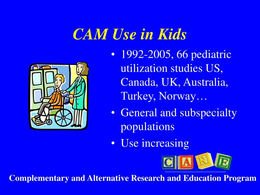 CAM Use in Kids