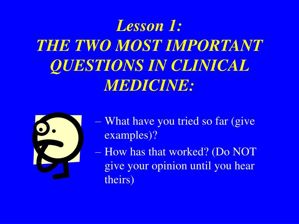 Lesson 1: