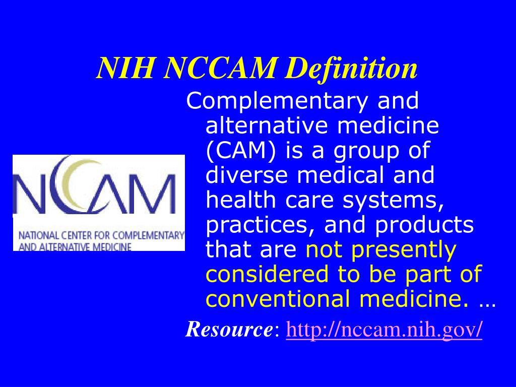 NIH NCCAM Definition