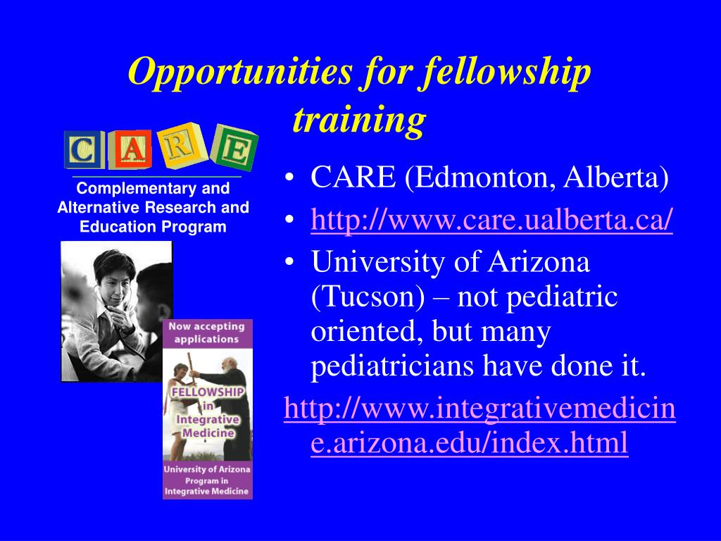 Opportunities for fellowship training