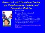 resource 4 aap provisional section for complementary holistic and integrative medicine