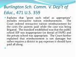 burlington sch comm v dep t of educ 471 u s 359