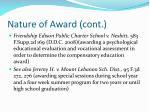 nature of award cont