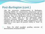 post burlington cont