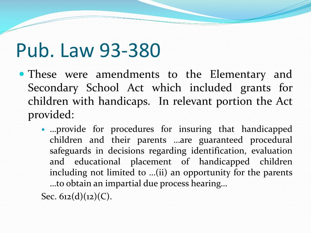 Pub. Law 93-380