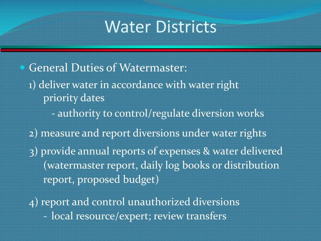 Water Districts