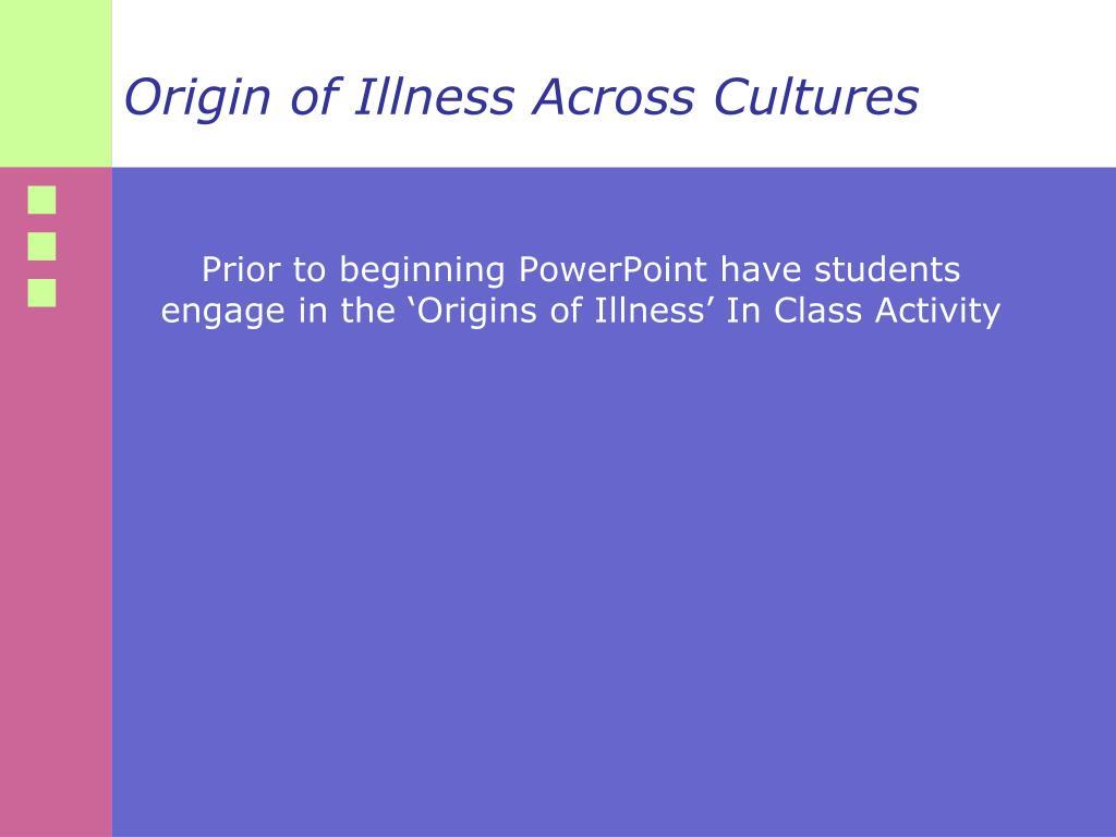Origin of Illness Across Cultures