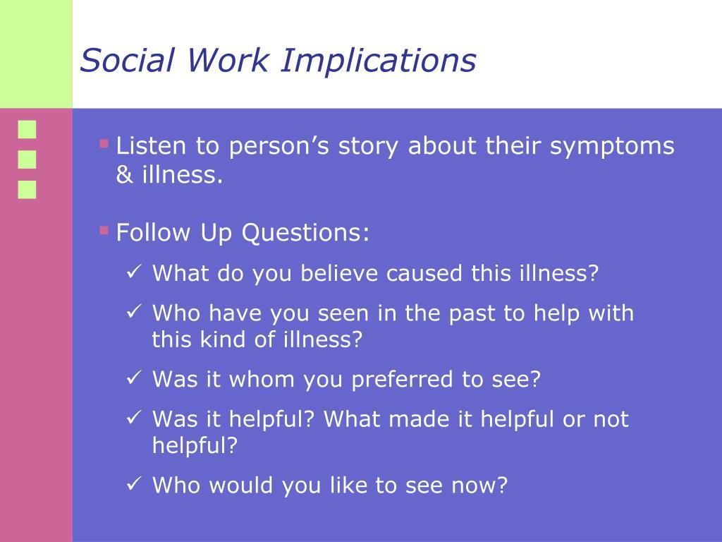 Social Work Implications