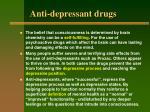 anti depressant drugs