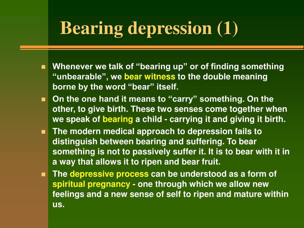 Bearing depression (1)