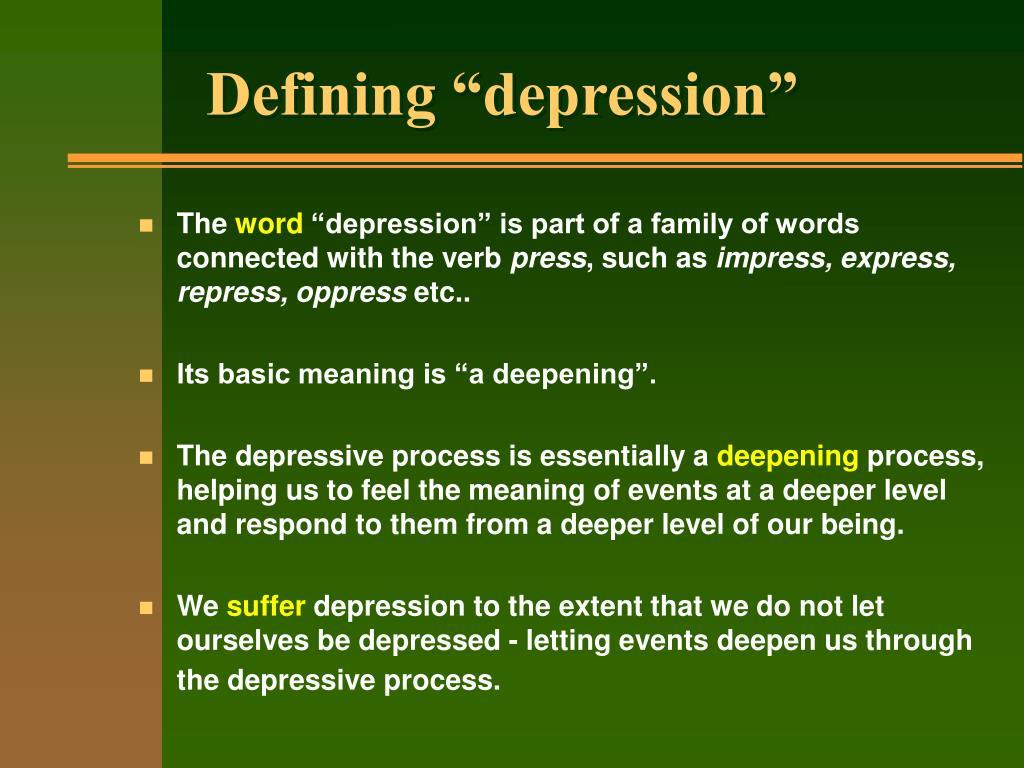 "Defining ""depression"""