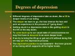 degrees of depression