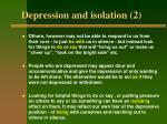 depression and isolation 2