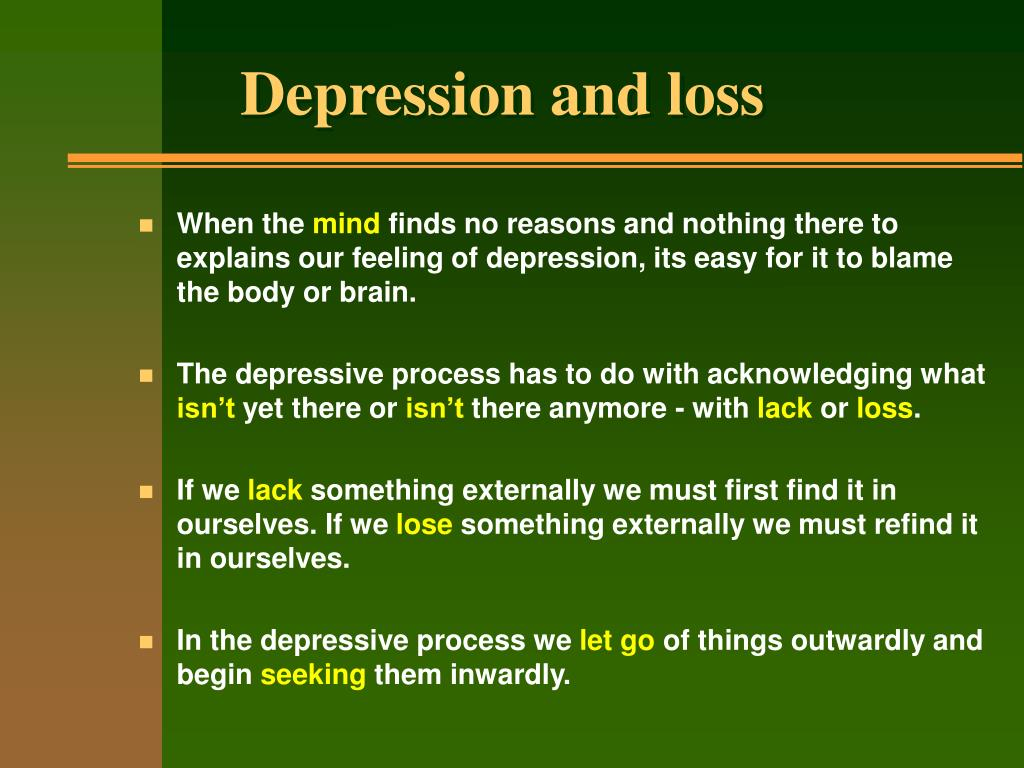 Depression and loss