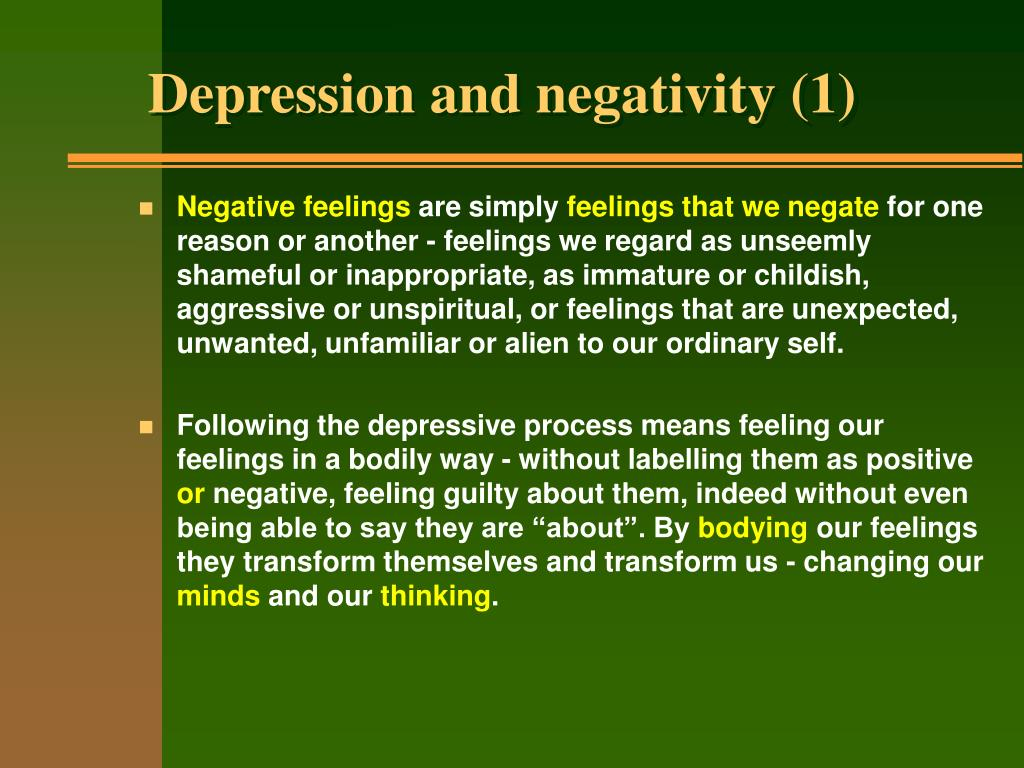 Depression and negativity (1)