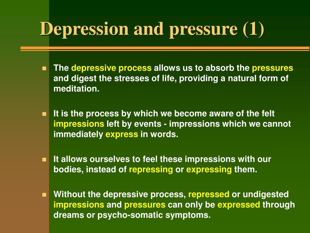 Depression and pressure (1)