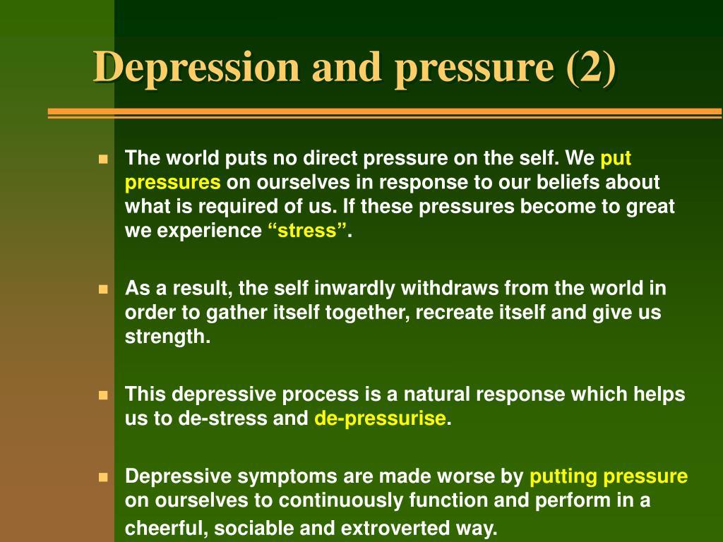 Depression and pressure (2)