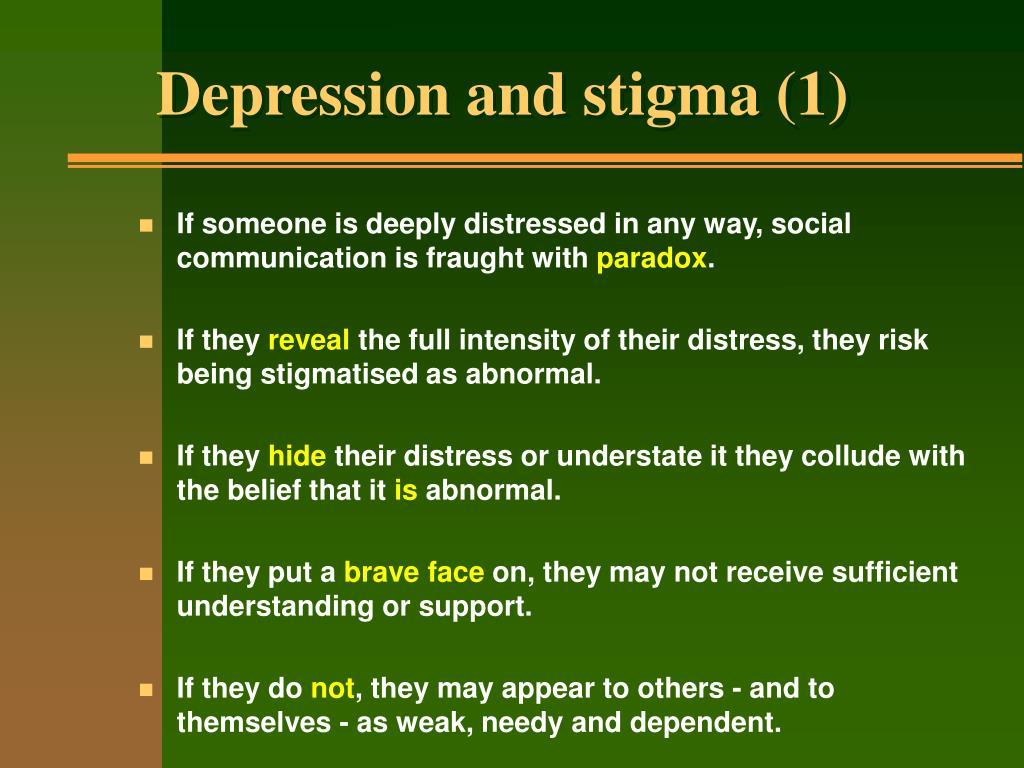 Depression and stigma (1)