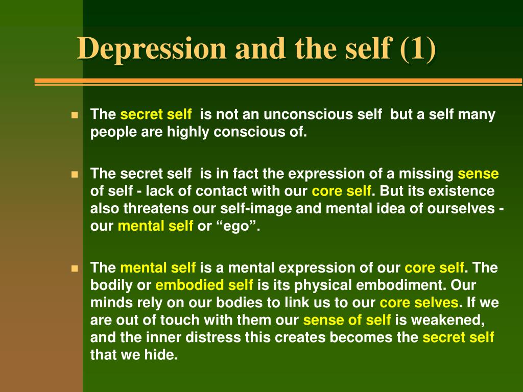 Depression and the self (1)