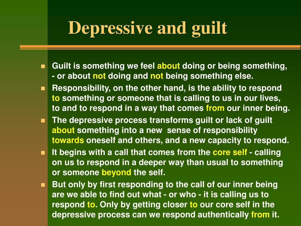 Depressive and guilt