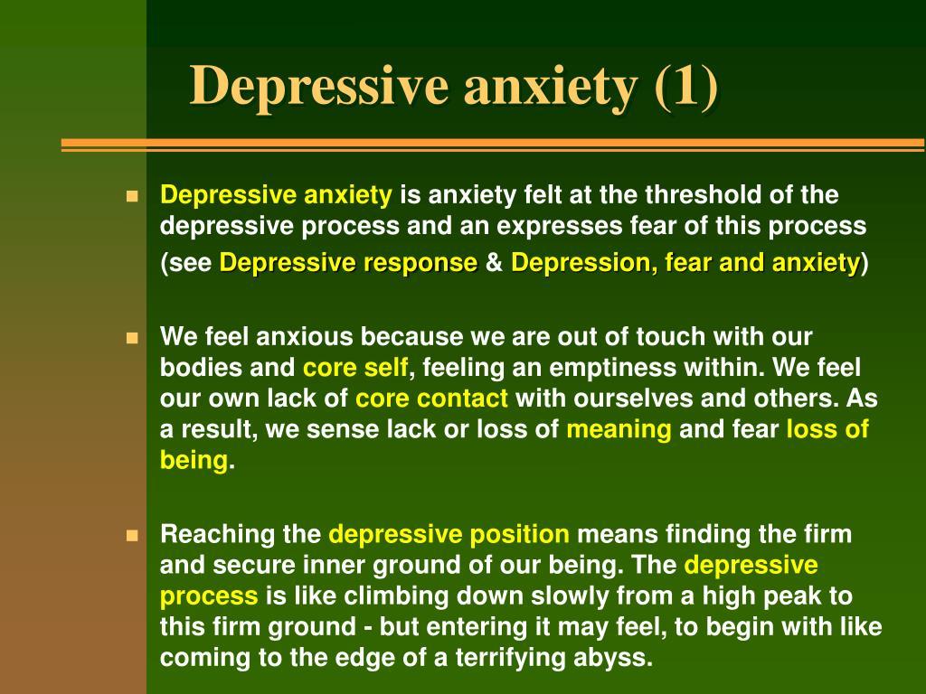 Depressive anxiety (1)