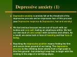 depressive anxiety 1