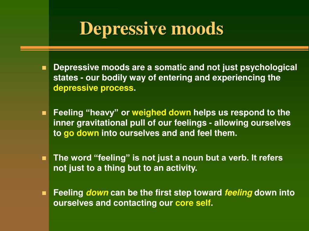 Depressive moods