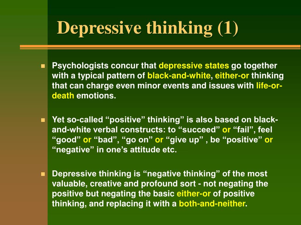 Depressive thinking (1)
