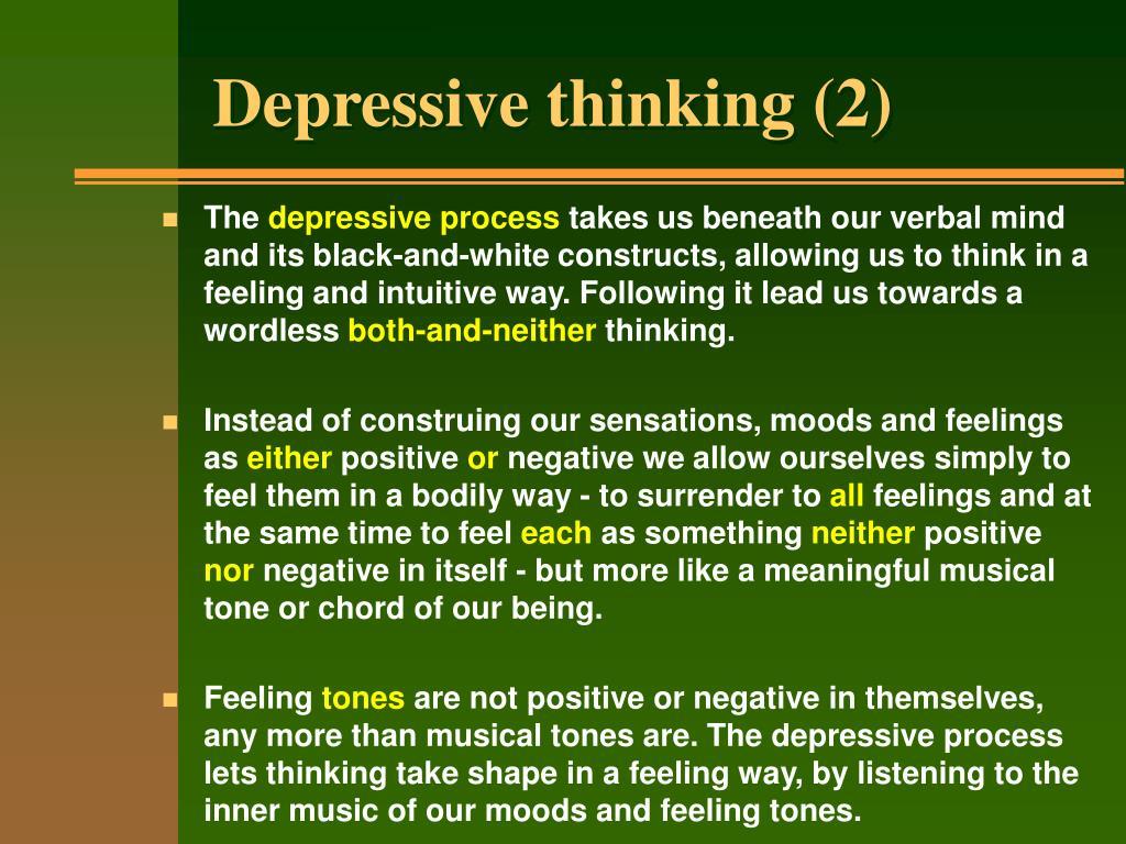 Depressive thinking (2)