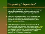 diagnosing depression