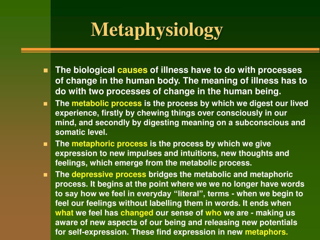 Metaphysiology