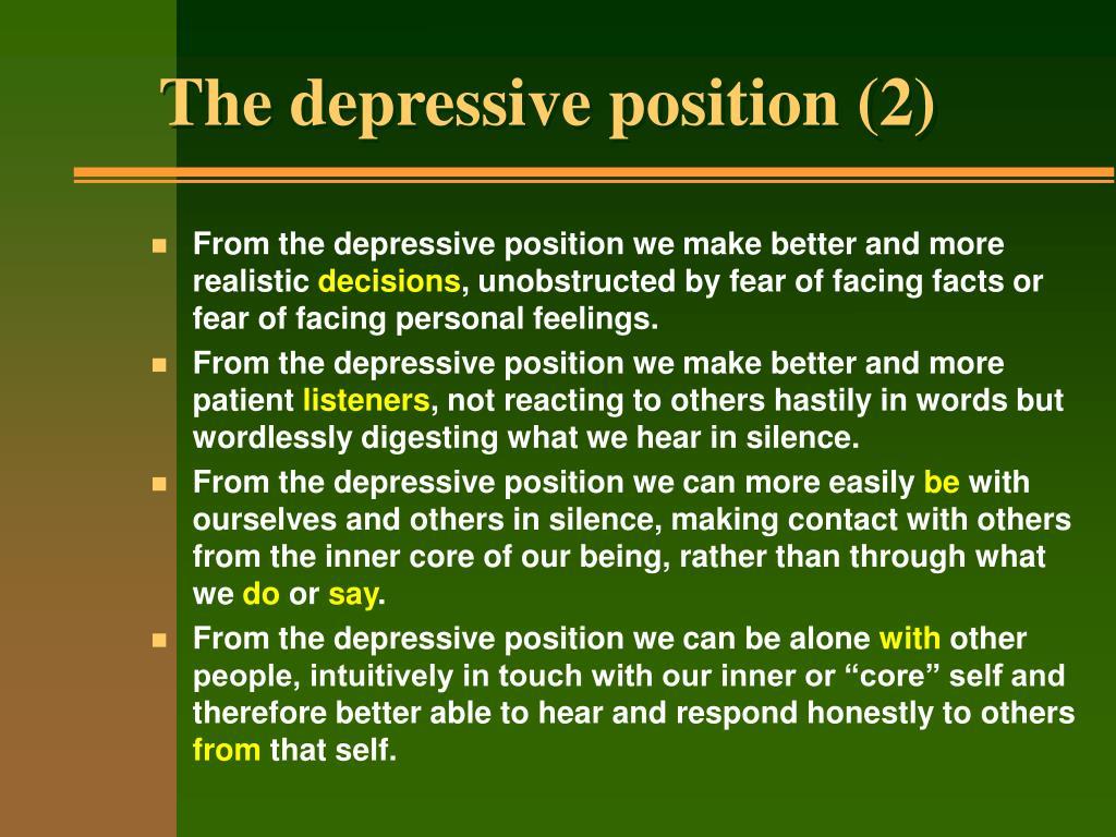 The depressive position (2)