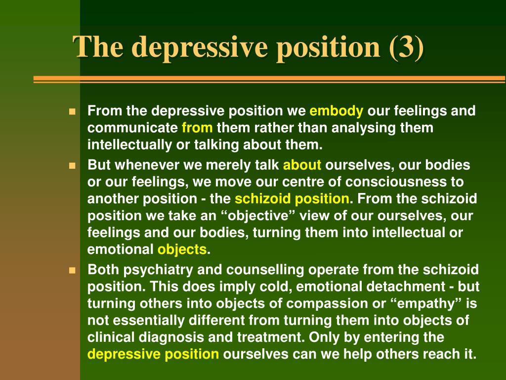 The depressive position (3)