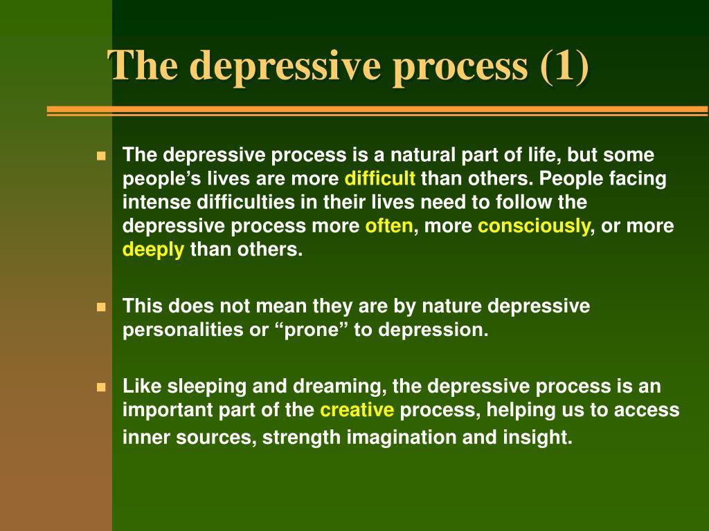 The depressive process (1)