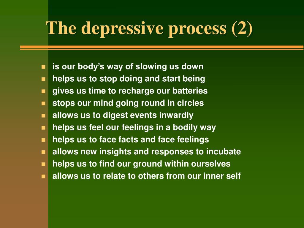 The depressive process (2)