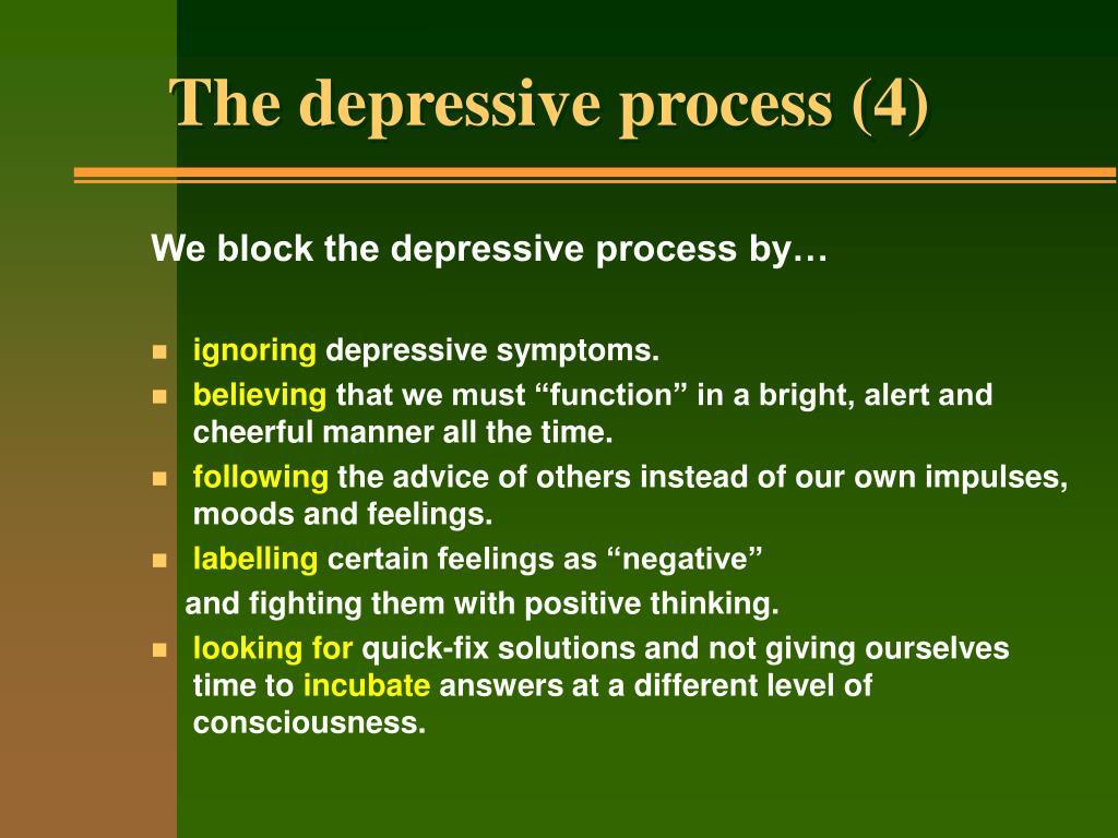 The depressive process (4)