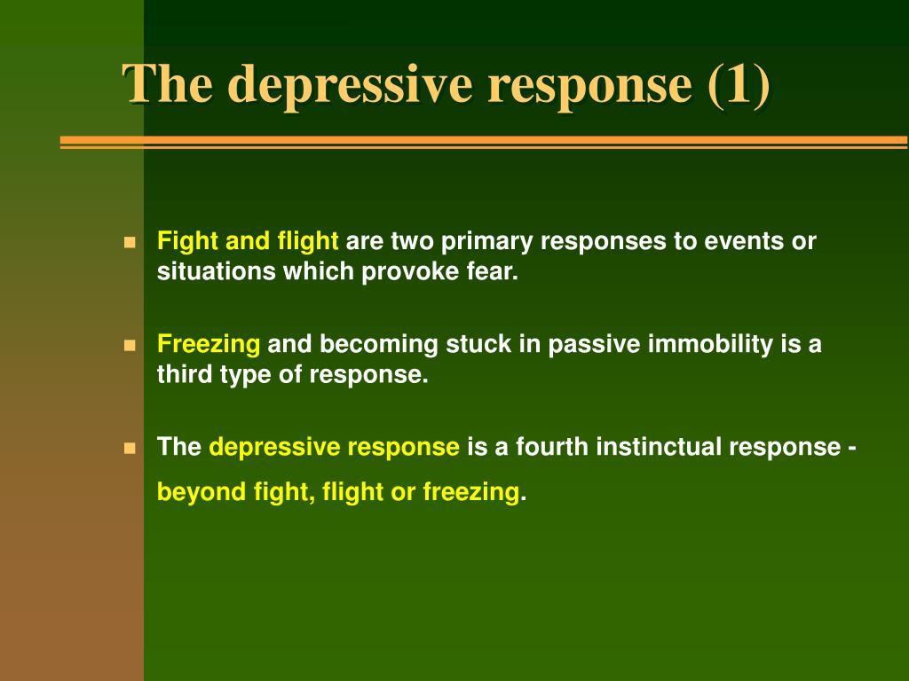 The depressive response (1)