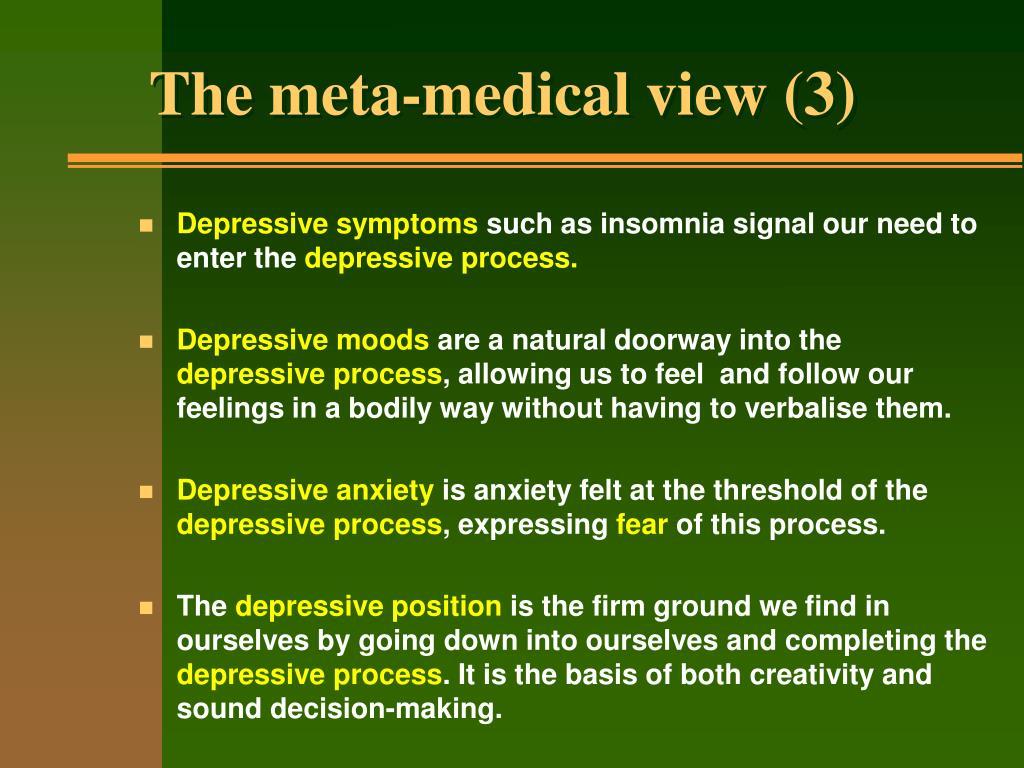 The meta-medical view (3)