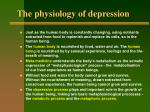 the physiology of depression