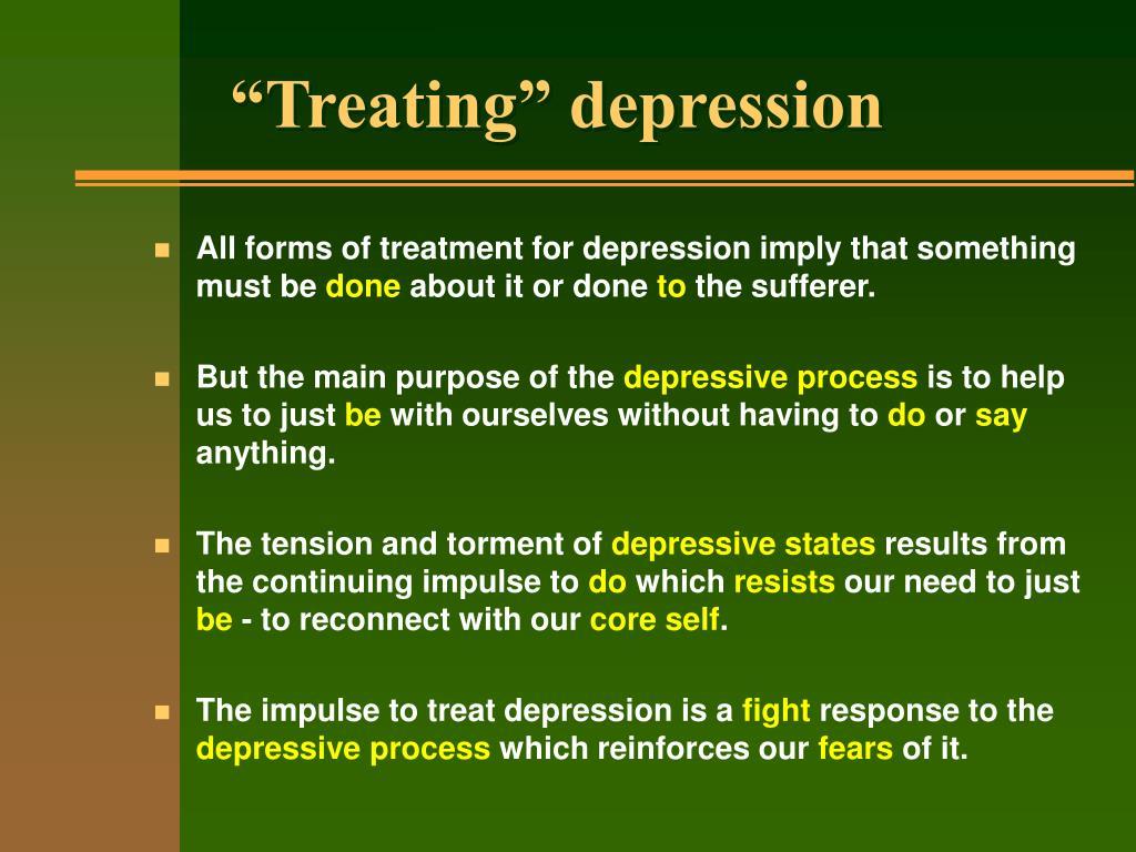 """Treating"" depression"