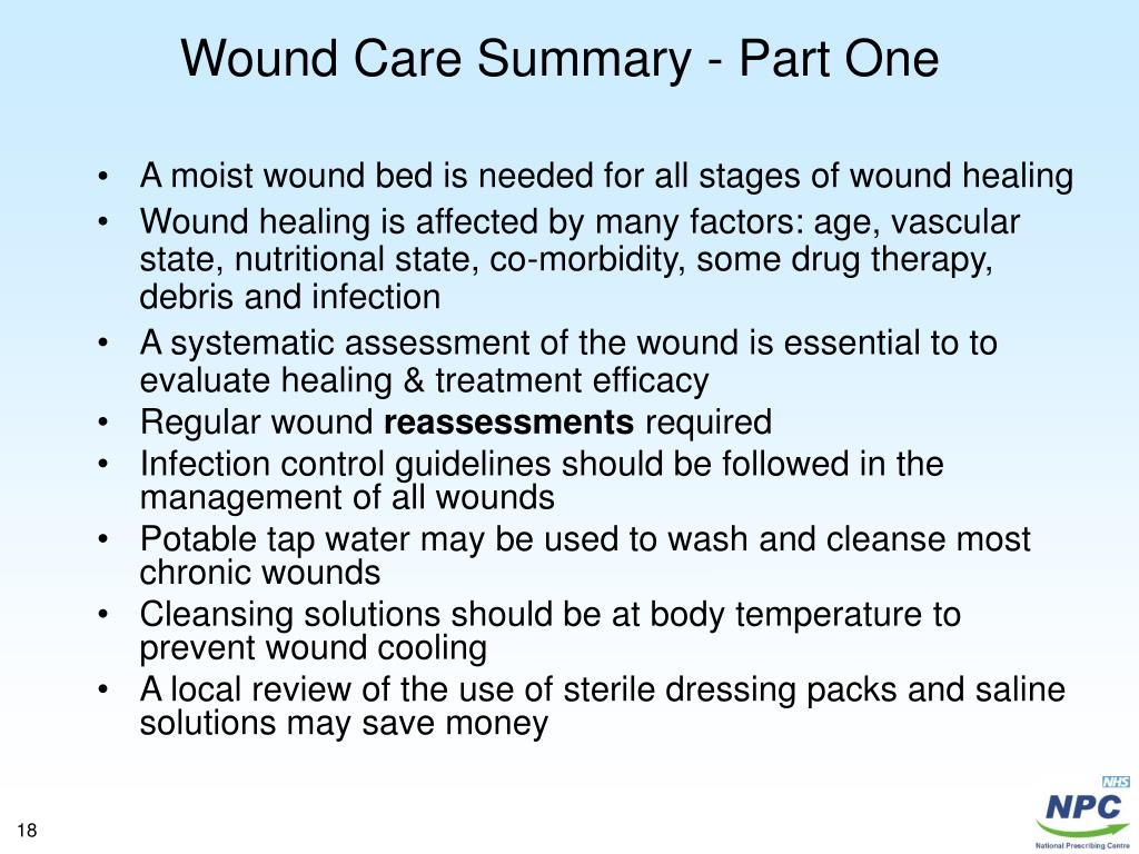 Wound Care Summary - Part One