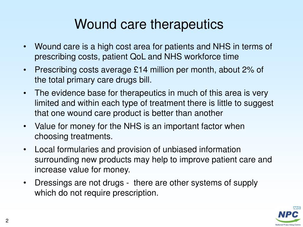 Wound care therapeutics