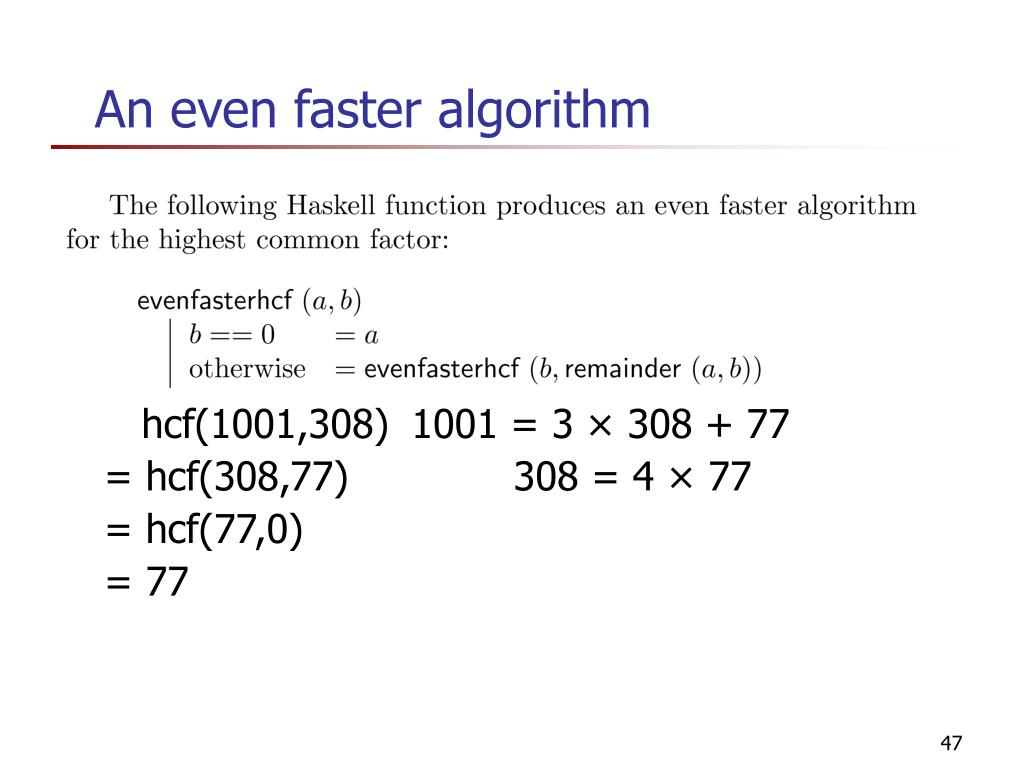 An even faster algorithm