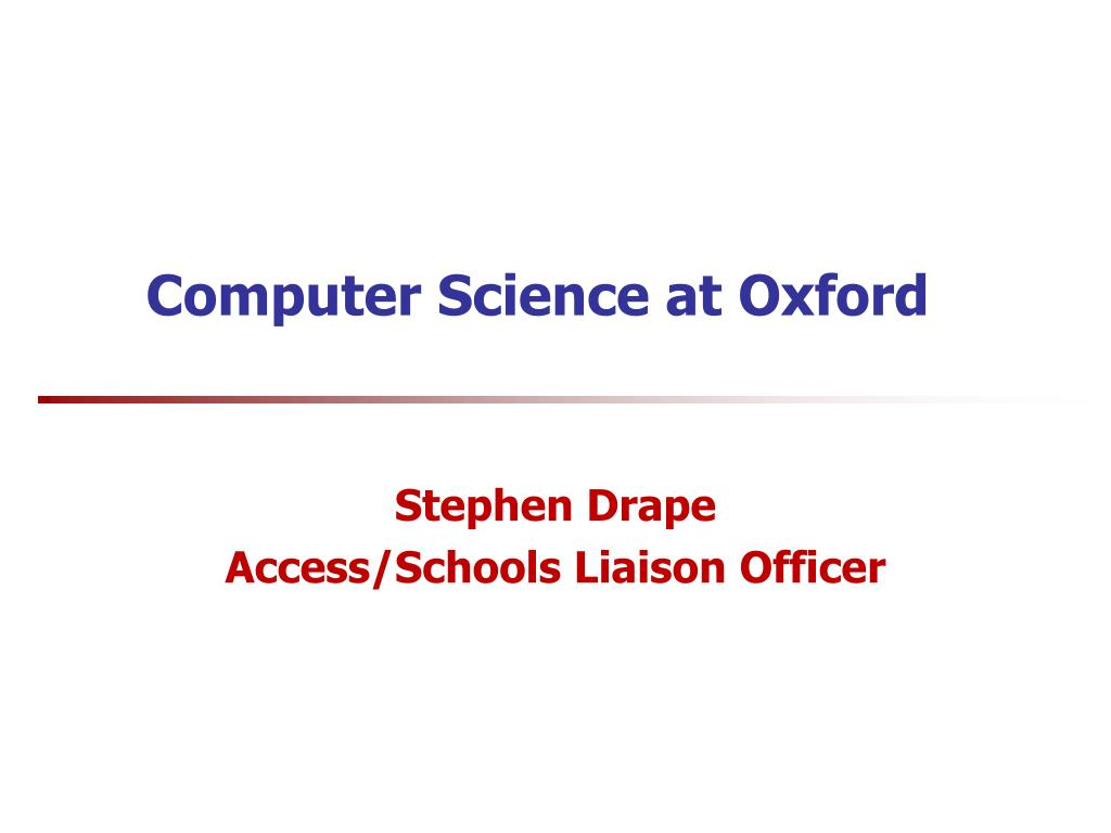 Computer Science at Oxford