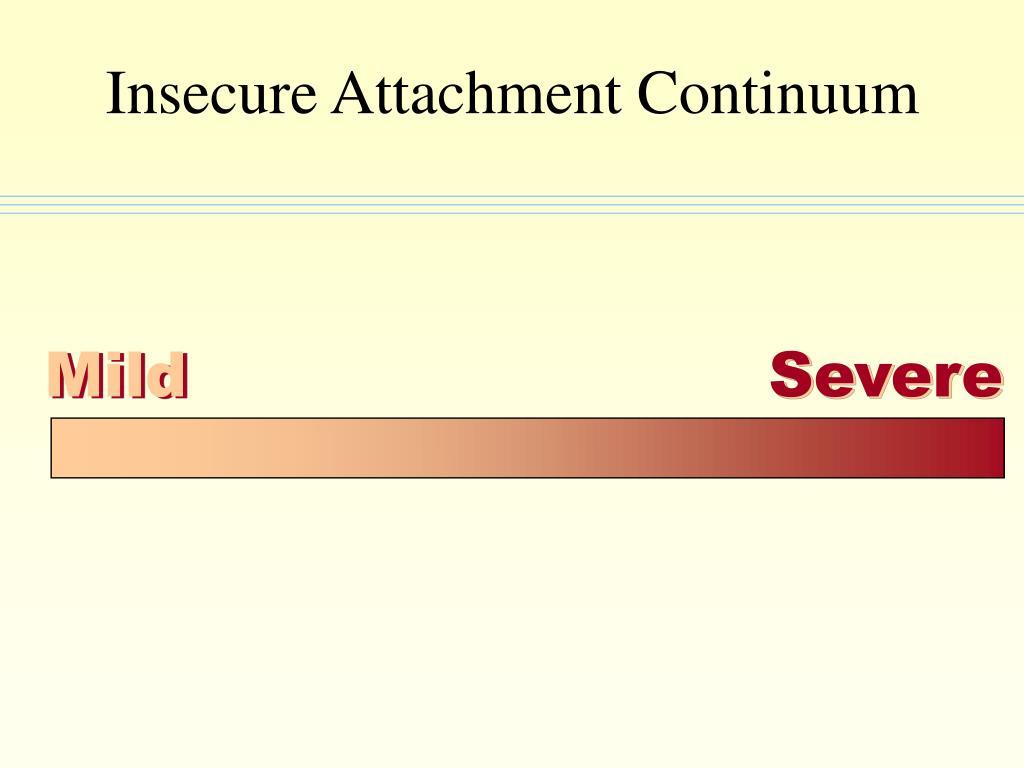 Insecure Attachment Continuum