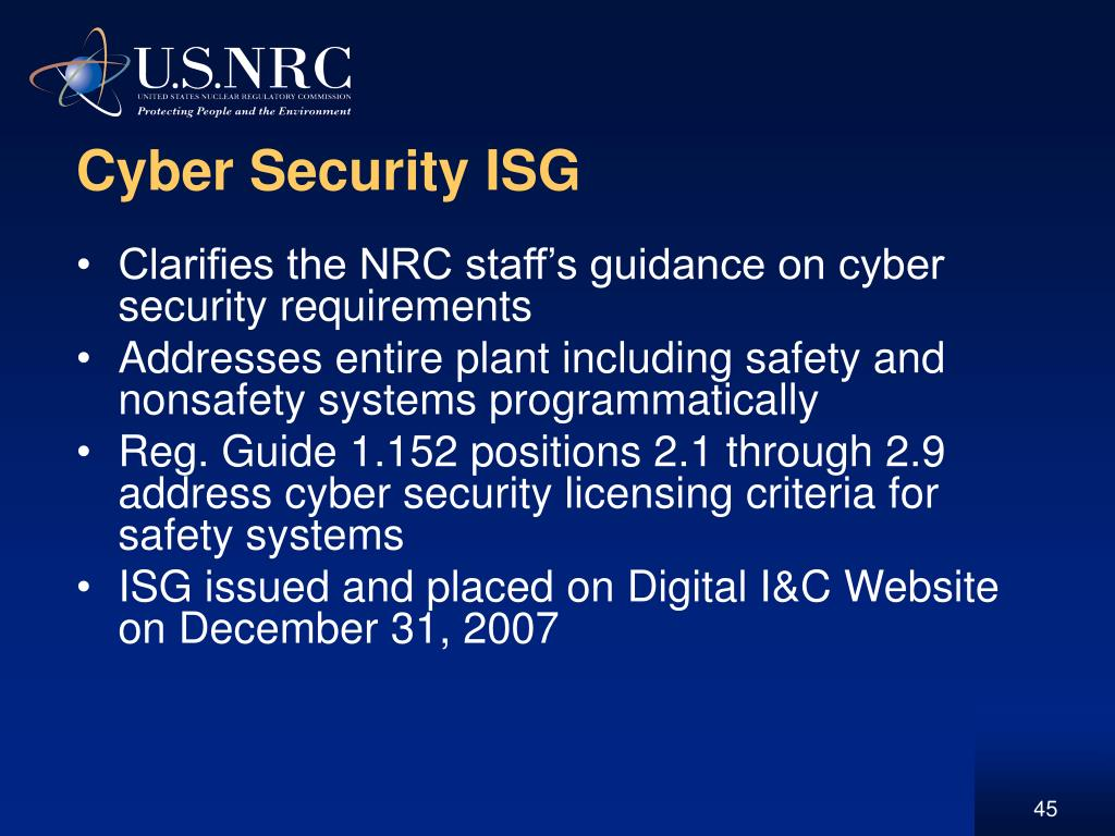 Cyber Security ISG