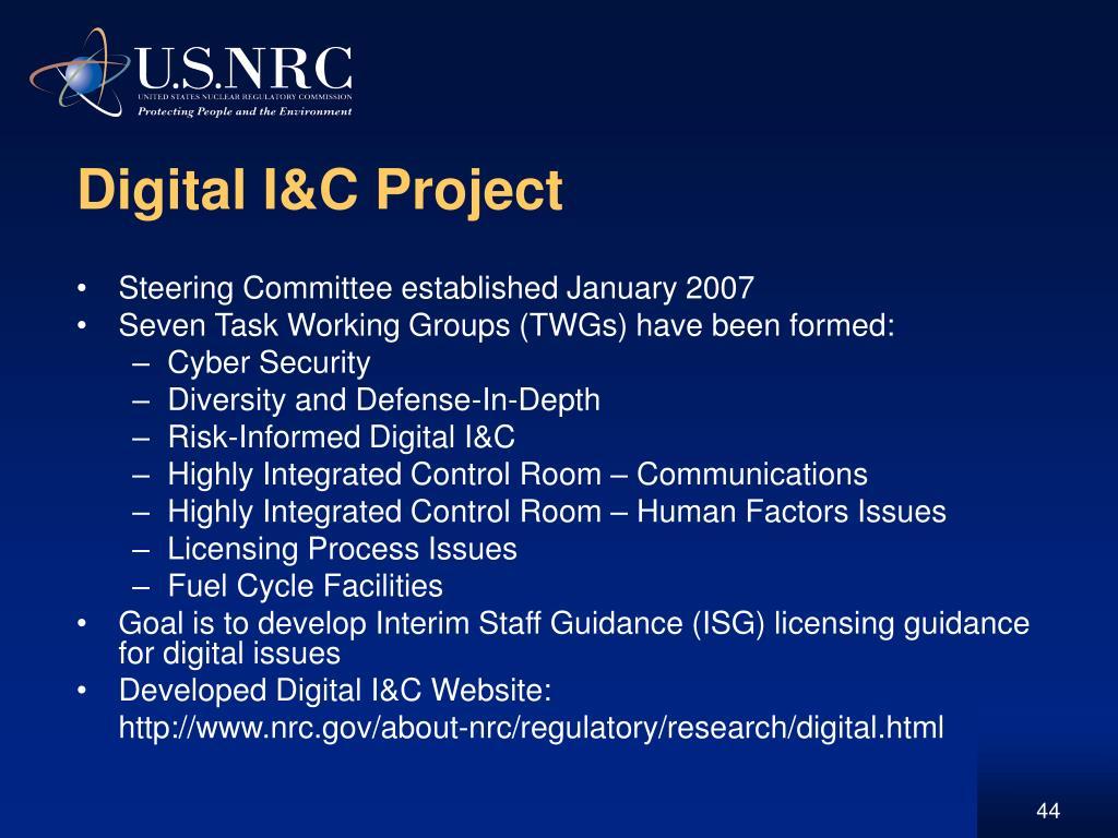 Digital I&C Project