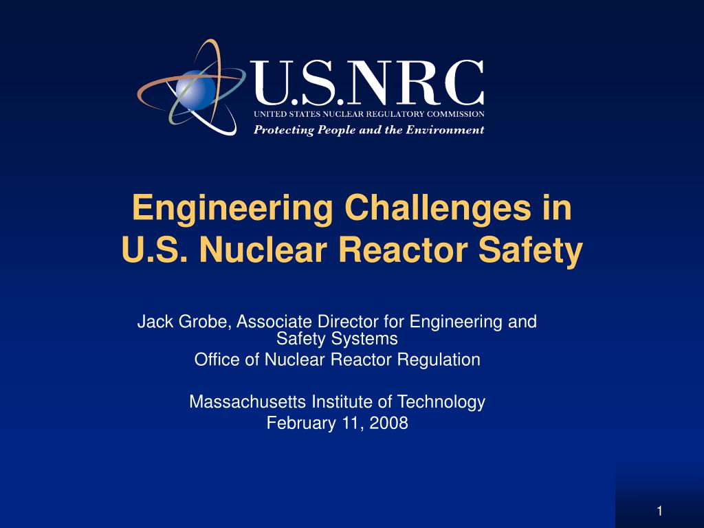 engineering challenges in u s nuclear reactor safety