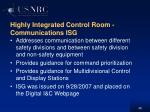 highly integrated control room communications isg