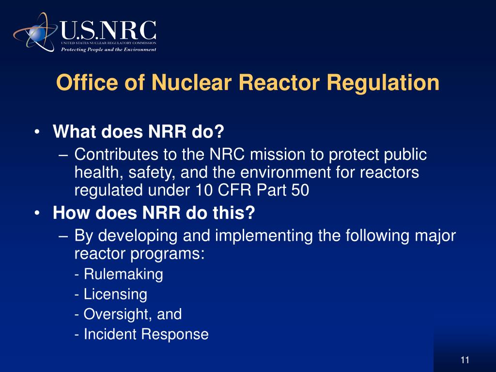 Office of Nuclear Reactor Regulation